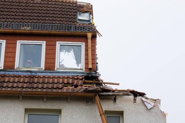Maison sinistrée à la suite d'une catastrophe naturelle
