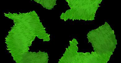 logo recyclage herbe