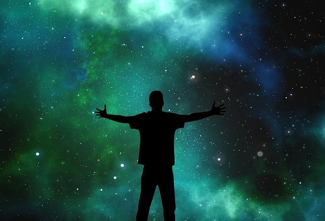 Galaxie espace homme