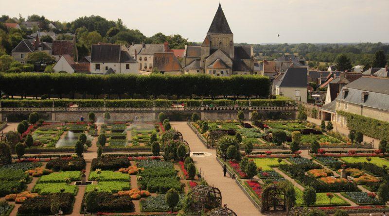 Jardins d'un chateau de la Loire