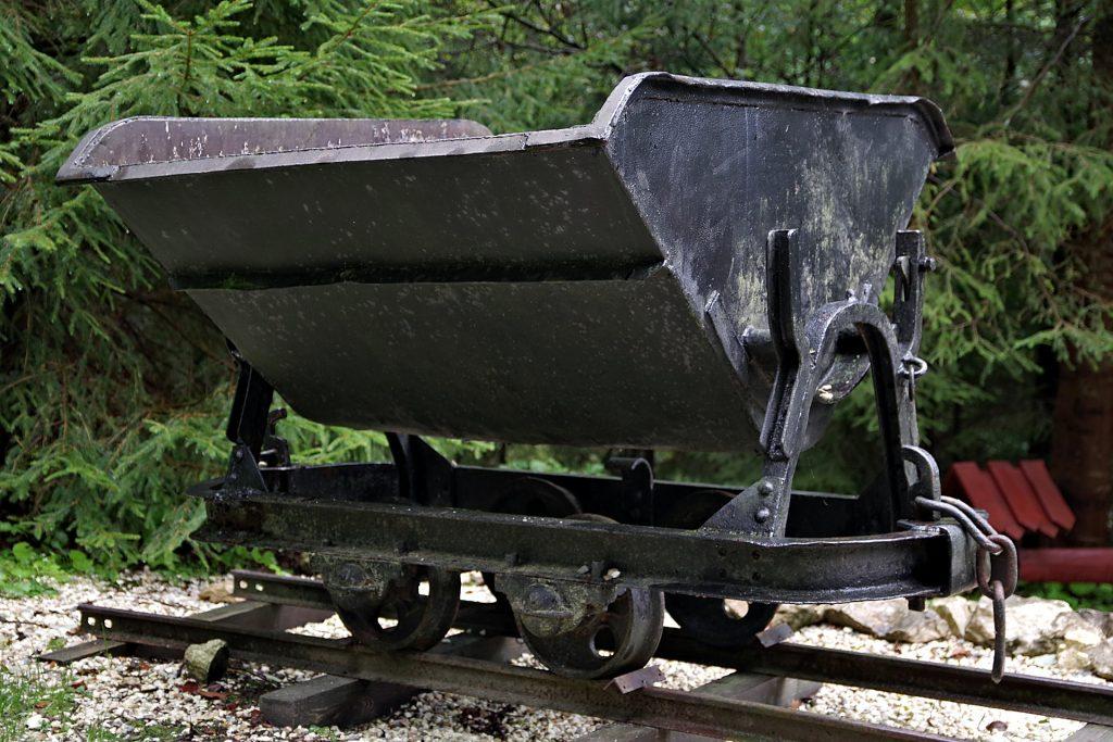Chariot de mine de charbon